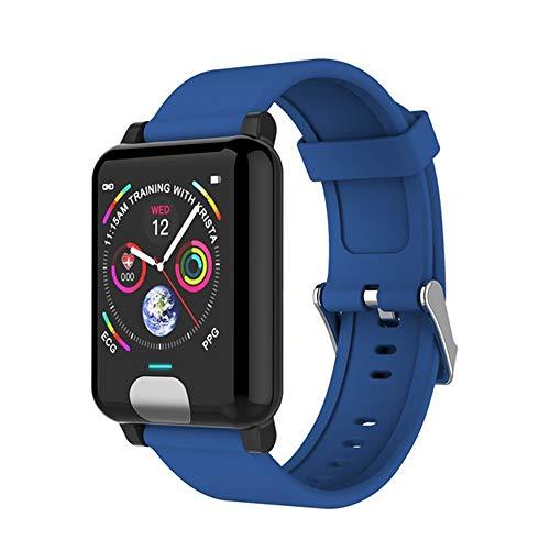 SEXTT Smart-Uhren, IP67 wasserdichte GPS-Smartwatch EKG PPG Blutdruck Herzfrequenzmessung Fitness Tracker,Blau
