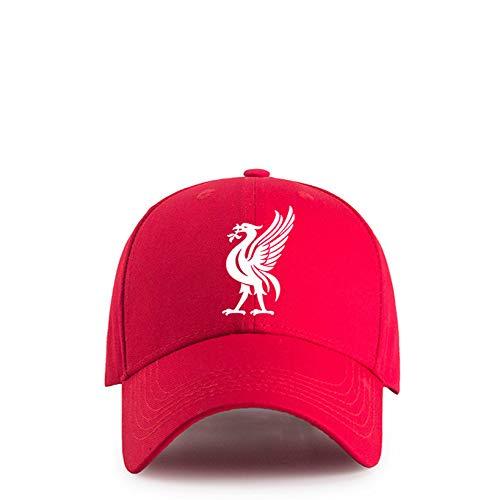 WEII Premier League Club Baseballmütze Fußballfans Visor Outdoor Sports Cap,Liverpool rot,Einheitsgröße -
