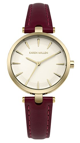 Karen Millen Womens Analogue Classic Quartz Watch with Leather Strap KM153VG