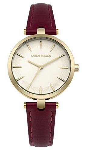 Karen Millen Womens Analogue Classic Quartz Watch with Leather Strap KM153VG