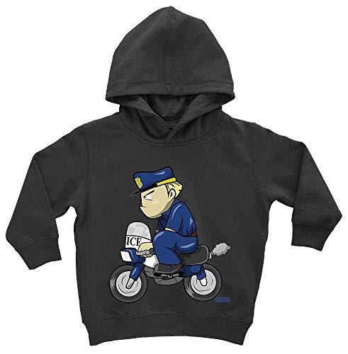 Erwachsenen Pinguin Hoodie - HARIZ Baby Hoodie Polizist Lustig Motorrad