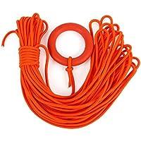 Jiobapiongxin Cuerda de Salvamento Flotante de la Cuerda del Rescate de la salvación de Vidas del Agua portátil con el Anillo Flotante