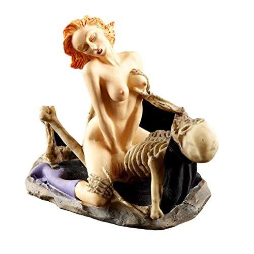LHYP Halloween Nackte Frau Lustige Dracula Liebhaber Sexy Statuen Polyharz Zu Hause Einrichtung Harz...