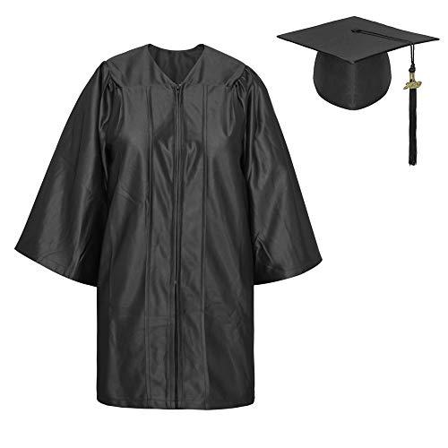 TopTie Toga Laurea e Tocco Cappello Laurea Costume per Bambino Unisex Set di Laurea cap Abito Nappa 2019 Black