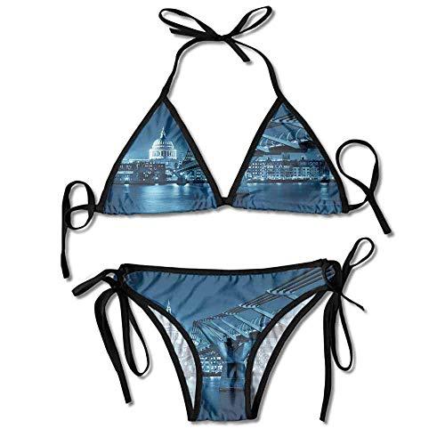 Custom Pattern Vintage Mesh Lace Striped 2 Pieces Beachwear Swim Dress Scalloped Lace Dress