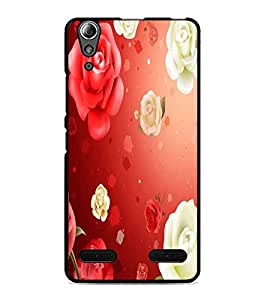 PrintDhaba Roses D-2426 Back Case Cover for LENOVO A6000 (Multi-Coloured)