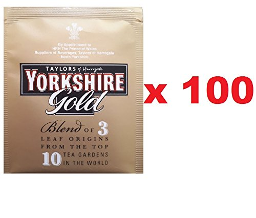 Yorkshire Gold Tea Individually Wrapped Tagged Enveloped One Cup Tea Bags Let s Have a Proper Brew - Taylors of Harrogate (Yorkshire Gold, 100)