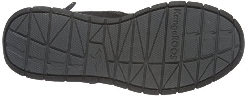 KangaROOS - Murino, Scarpe da ginnastica Unisex – Bambini Nero (Schwarz (Black/Dk Grey 522))
