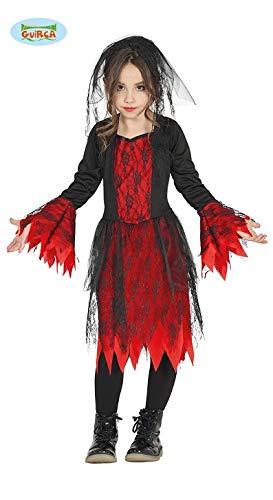 Gothic Braut Kostüm für Mädchen Halloween Horror Halloweenkostüm Gr. 98 - 146, Größe:140/146