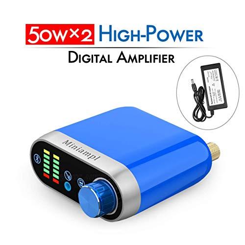 Nobsound Hi-Fi Bluetooth 5.0 Power Amplifier; Home Stereo Lossless Wireless Audio Receiver; 100W Class D Digital Speaker Amp & PC Sound Card; Vu Meter / Sound Level Leistungsverstärker (Blue)