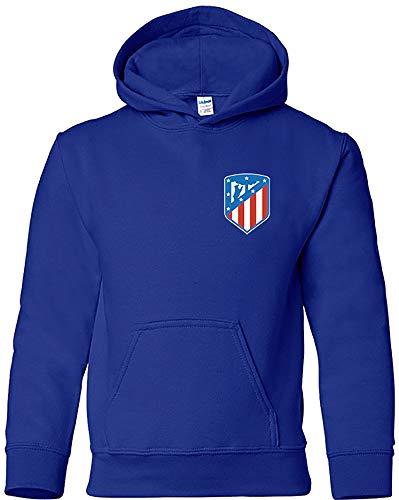 Sudadera Escudo Nuevo Adulto/Niño Camisetas del Atleti Colchoneras Rojiblancos ATM 9-11 años, Azulón...