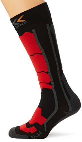 X-Socks Ski Control Calza Sci, Uomo, Nero (Black/Red), 39/41