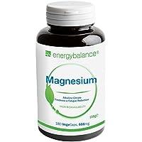 Preisvergleich für Magnesium-Citrate 105mg | 100% rein Ohne Zusatzstoffe | Hohe Bioverfügbarkeit | Glutenfrei | Vegan | GVO-frei...