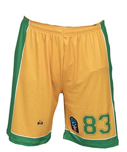 Bigsport Replica Flasche FIBA Eurocup Limoges CSP Hause Shorts Basketball Jungen M gelb