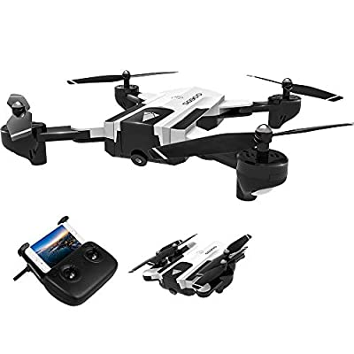 Goolsky SG900 RC Drone with Camera 720P Wifi FPV Optical Flow Positioning Gesture Photo/Video Follow Me Altitude Hold Foldable RC Quadcopter for Adult
