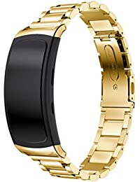 squarex exquisito reloj de acero inoxidable banda accesorios banda pulsera correa de reloj para Samsung Gear