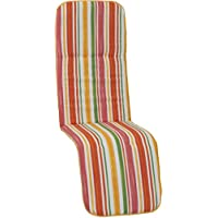 Beo silla de jardín cojines ribete para tumbona (Sillas Primavera rayas, aprox. 175x 48x 5cm, multicolor