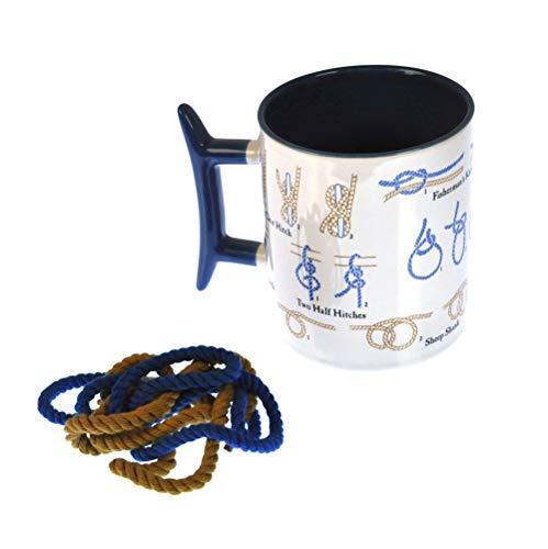 Unemployed Philosophers Guild Wie Mache ich einen Seemannsknoten Kaffeebecher, 2