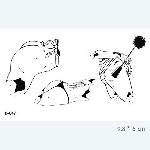 Frau Sexy Körper Mund Pistole Wasserdicht Augen Temporäre Aufkleber Provisorische Tätowierung für Erwachsene Body Art Gefälschte Tätowierung für Frauen Tattoos B 047