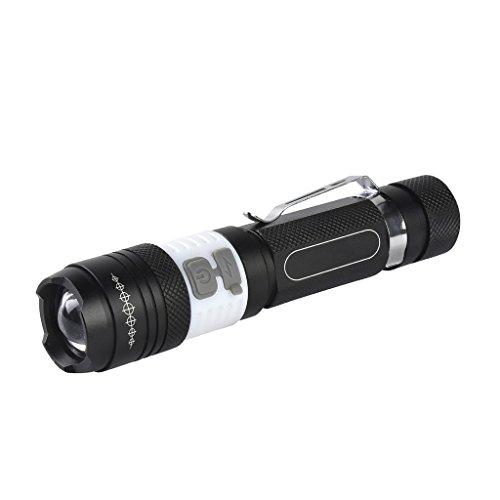 Preisvergleich Produktbild Wolfway 2000 Lumen XM-L T6 + COB LED 18650 Nachladbare Taschenlampe der USB-LED 3 Modi Zoomierbar Fackel Lampe für im Freienhaushalts Licht