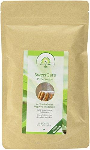 SweetCare Zucker Puder, der Zuckerersatz mit Erythritol und Stevia die natürliche Alternative zu Puderzucker