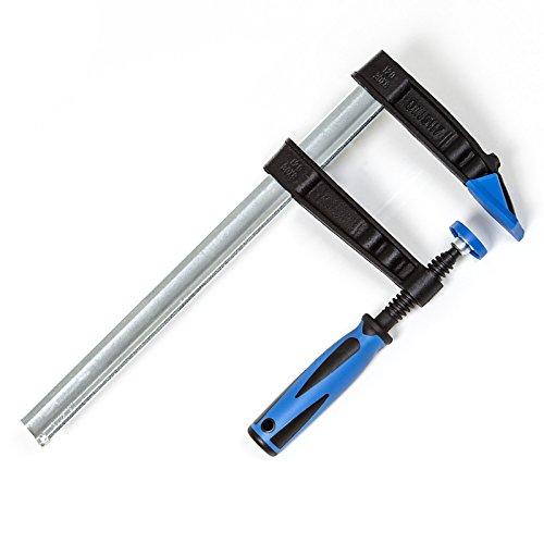 SECOTEC® Schraubzwinge mit Antirutsch-Griff 300 x 120 mm, extra lange Backen