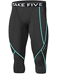 Hommes Sport np522Apparel Peau Collants de compression Base sous couche Capri Pantalon pour femme