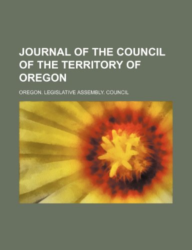 Journal of the Council of the Territory of Oregon