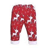 Pwtchenty Baby Jungen Mädchen Casual Hosen Weihnachten Hosen Winter Warm Freizeithosen Kleider Plüsch Niedlich Baumwollhosen Thick Weihnachten