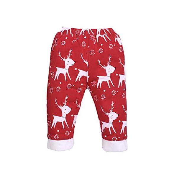 Shenye - Pantalones de Navidad para bebé, diseño de Ciervo 1