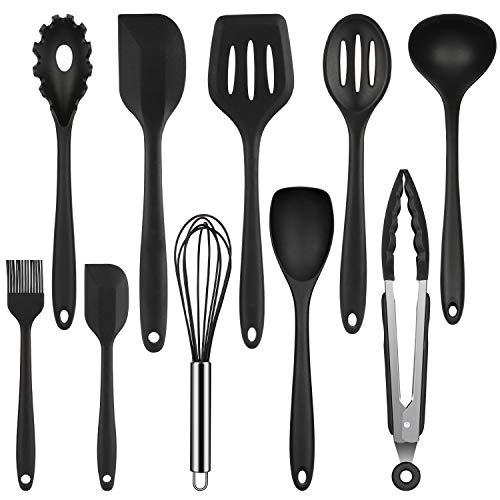 Mr quality utensili da cucina in silicone antiaderente set di utensili da cucina in lavastoviglie set da cucina resistente al calore