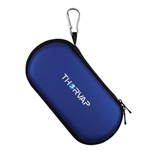 THORVAP® Estuche de transporte Multifuncionales estuche de cremallera para el cigarrillo electrónico ego kit,claromizadores, baterías, adaptadores USB, e-liquido - Azul