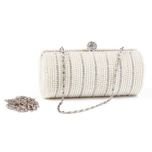 Damara da donna speciale Columnar perla sera borsa chic perline clutch Champagne