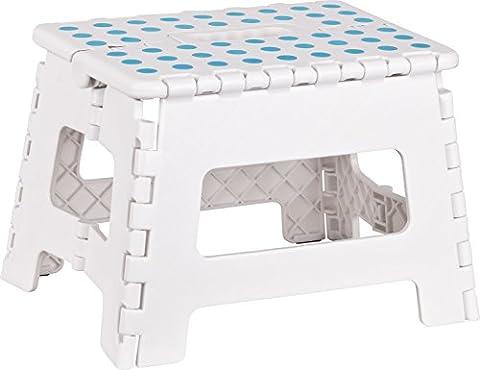 Kigima Tritthocker klappbar, Klapptritt Klapphocker aus Kunststoff Small 29x22x22cm weiß