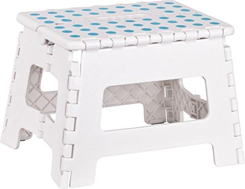 Kigima Tabouret banqueta plegable en Plastique Petit 29x22x22cm Blanc