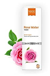 VLCC Rose Water Toner 100 ml With Free Organic Harvest Trial Pack 10 ml