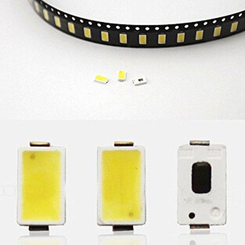 Janecrafts 100 Stück 0.5W 5730 cool White LED Perlen High Power Lampe Integrierte Chip-Lichtquelle COB SMD Scheinwerfer-Birnen-Scheinwerfer (Cool White Led-chip)