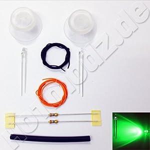 LED Mod Set Thumbsticks/Analogsticks passend für PS4 Controller – grün Beleuchtet