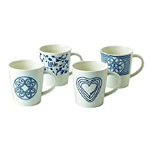 Royal Doulton Love Mug, Blue, 475 ml, Set of 4