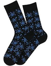 Mi-chaussettes motif Splash en coton