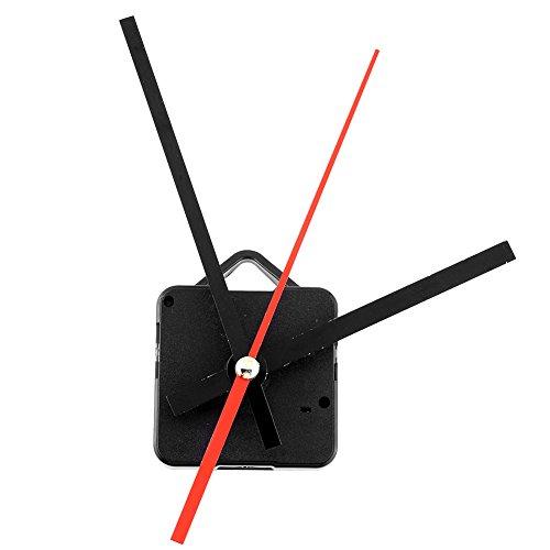 Retro Quartz Clock Movement Black+Red Hands Parts Replacing Kit DIY ()