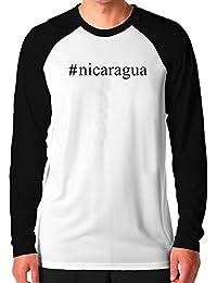 Teeburon Nicaragua Hashtag Camiseta de manga larga raglan