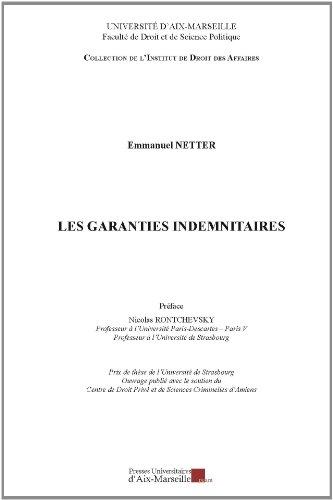 Les garanties indemnitaires par Emmanuel NETTER
