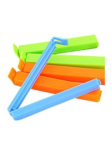 Inddus 24Pc 3 Different Size BPA Free Plastic Food Snack Bag Pouch Clip Sealer (Multicolor)