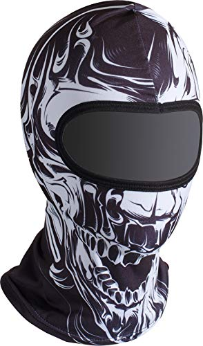"Soxon® SH-2 ""Horror Skull"" · Sturm-Haube · Balaclava Ski-Maske Halswärmer Nahtlos Unisize Motorrad-Helm Kinder Kappe Roller Scooter Mofa Jet ()"
