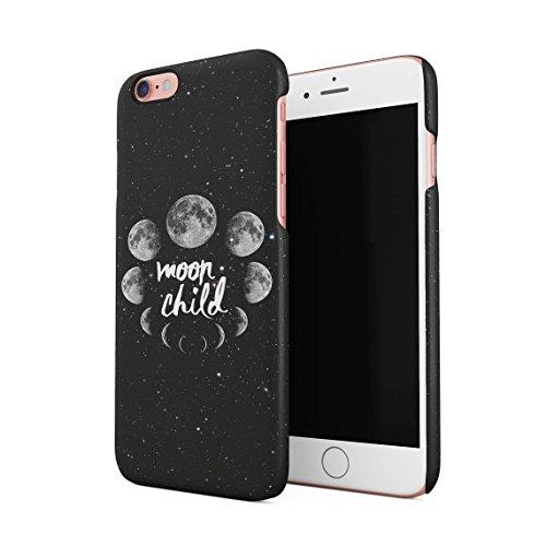 Spacetime Mond Phases Moon Child Galaxy Starlight Weltraum Hispter Tumblr Dünne Rückschale aus Hartplastik für iPhone 6 Plus & iPhone 6s Plus Handy Hülle Schutzhülle Slim Fit Case Cover
