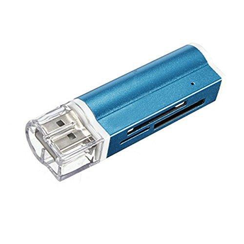 SODIAL(R) Lectores Tarjetas de Memoria Externos USB 2.0 Micro SD MMC S