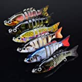 GENERIC Proberos 6PCS Sections Fishing Lure 10.3cm 20.7g Swimbait Fishing Bait 6#