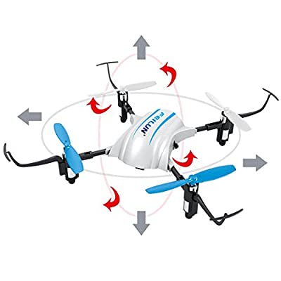 deAO FX119 2.4G 4CH 6-axis Gyro RC Quadcopter Helicopter Drone 180° Inverted Flight - White