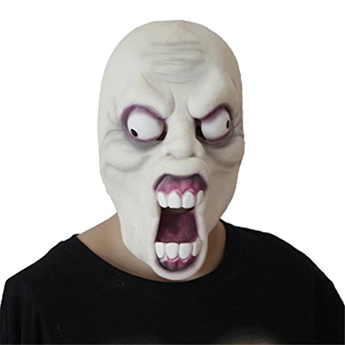 SQCOOL Horror Latex Maske Umweltschutz Nicht - Toxische Halloween Stützen Masquerade Tumbling (Mädchen Kostüm Diy Alien)